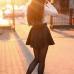 Как да носите пола с висока талия?
